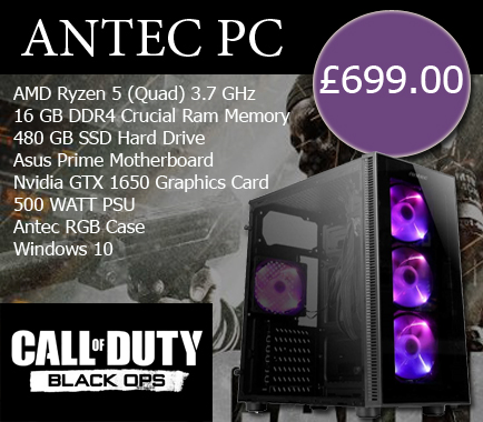 call of duty custom gaming pc antec pc academy